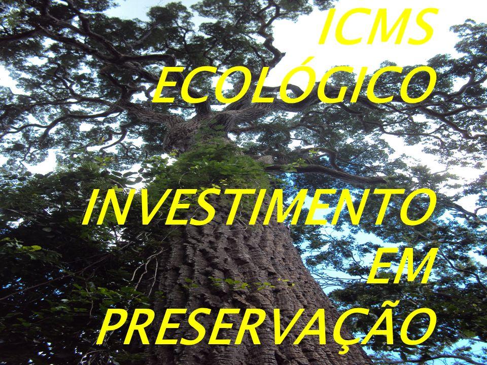 ICMS ECOLÓGICO INVESTIMENTO EM PRESERVAÇÃO