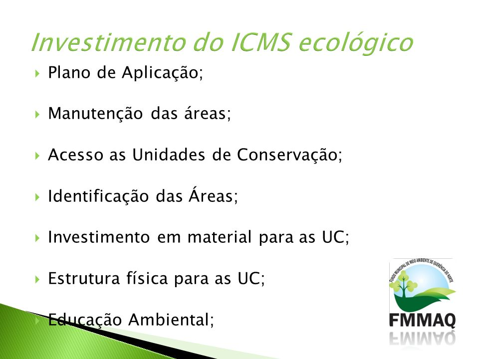 Investimento do ICMS ecológico