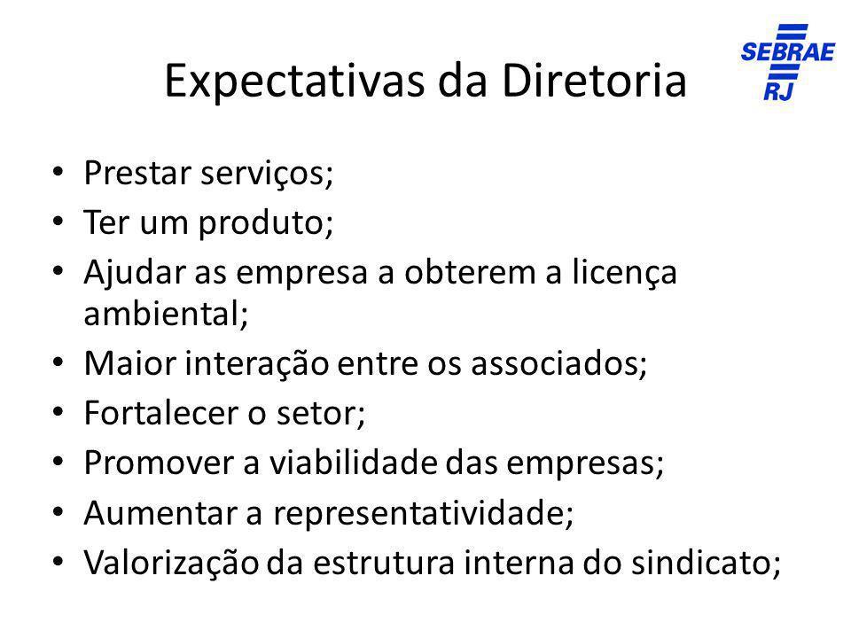 Expectativas da Diretoria