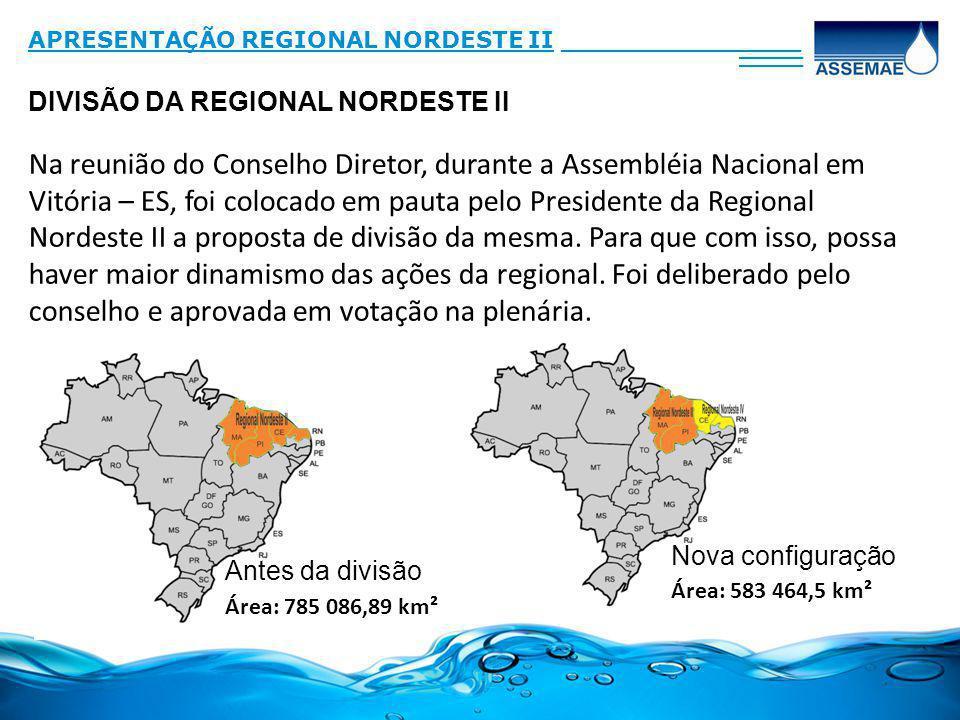 31/03/2017 APRESENTAÇÃO REGIONAL NORDESTE II. _______________. ____. DIVISÃO DA REGIONAL NORDESTE II.