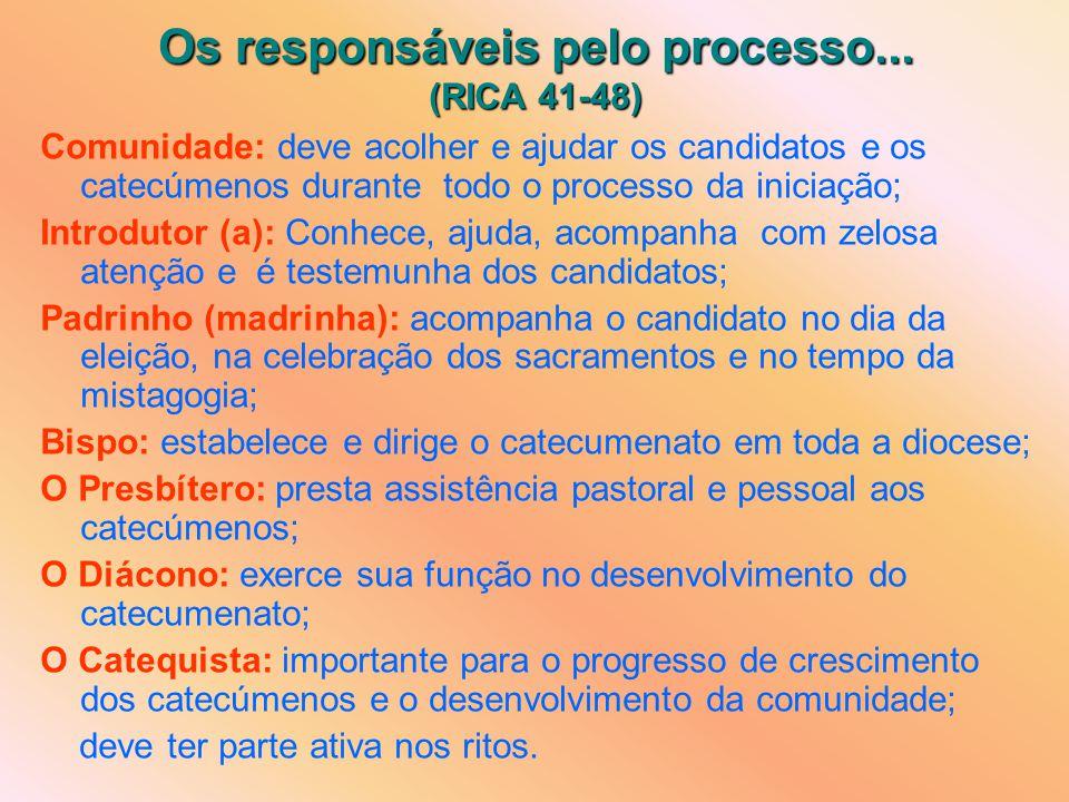Os responsáveis pelo processo... (RICA 41-48)