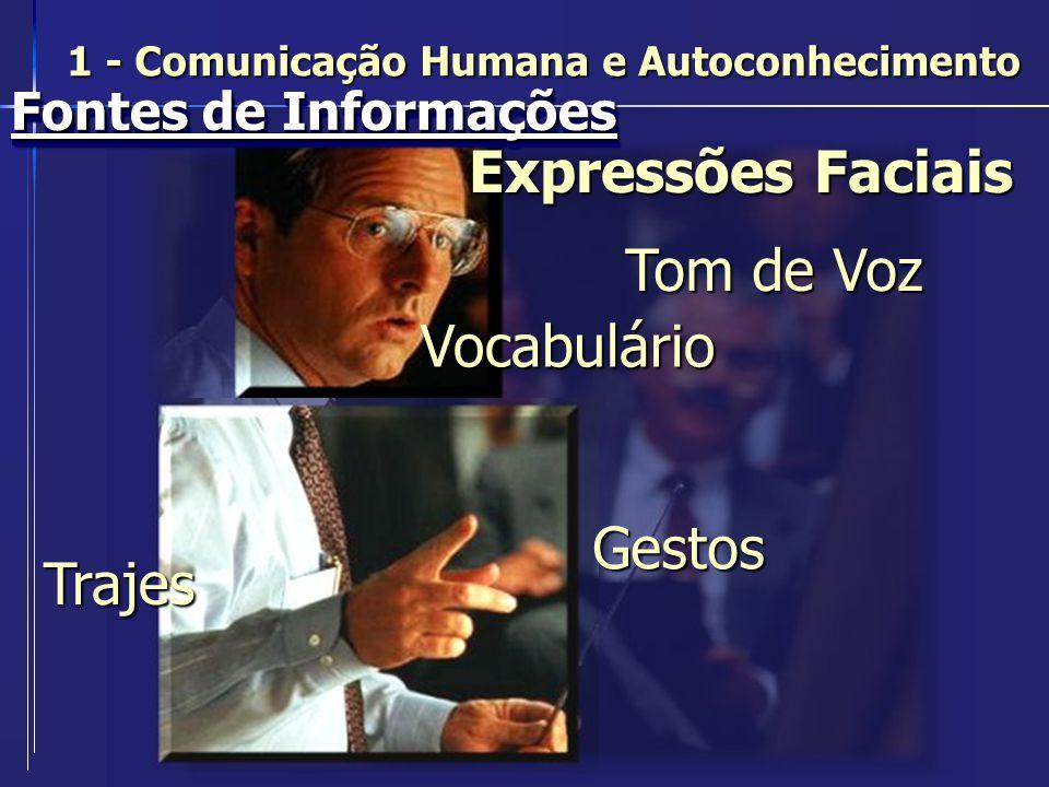 Expressões Faciais Tom de Voz Vocabulário Gestos Trajes