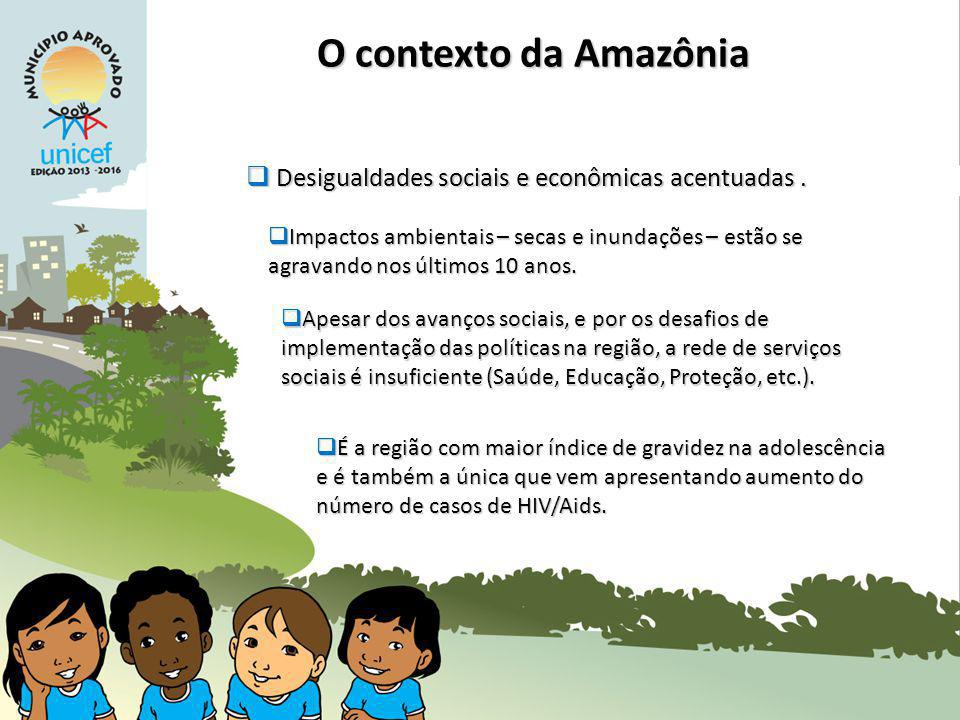 O contexto da Amazônia Desigualdades sociais e econômicas acentuadas .