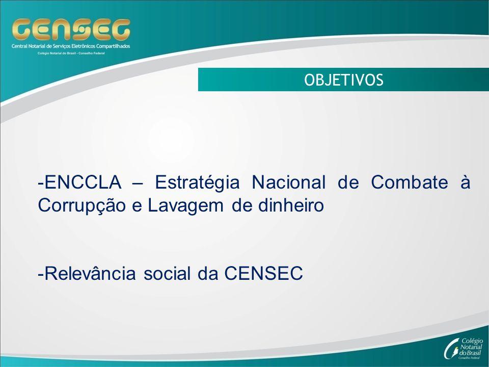 Relevância social da CENSEC