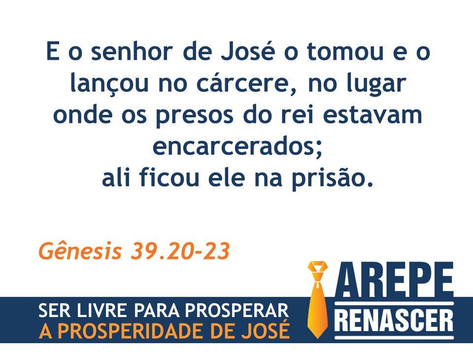 E o senhor de José o tomou e o lançou no cárcere, no lugar onde os presos do rei estavam encarcerados;