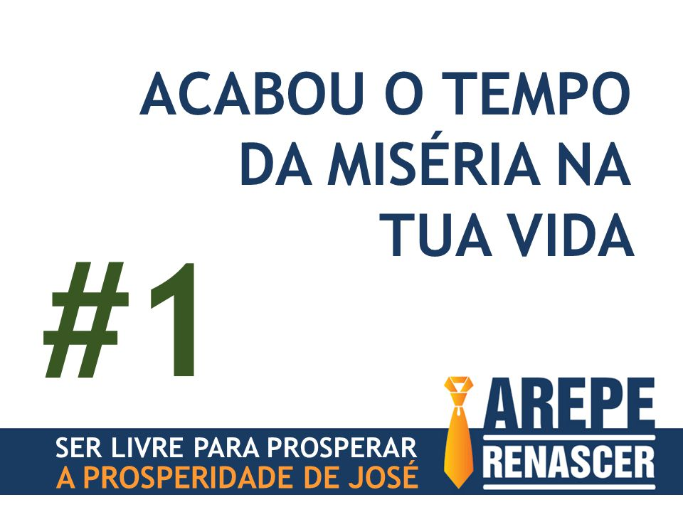 #1 ACABOU O TEMPO DA MISÉRIA NA TUA VIDA A PROSPERIDADE DE JOSÉ