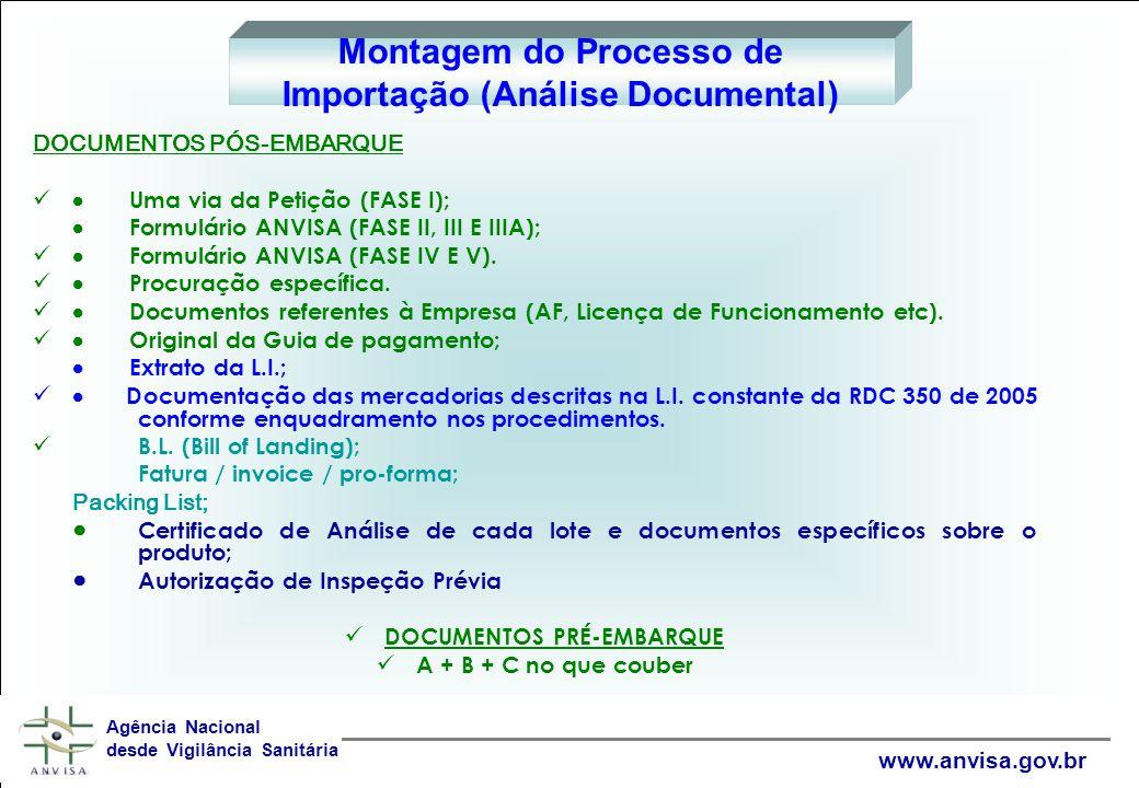 Montagem do Processo de Importação (Análise Documental)