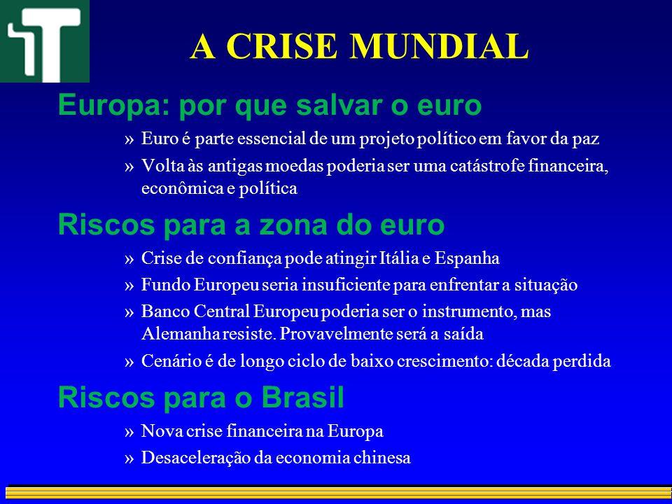 A CRISE MUNDIAL Europa: por que salvar o euro