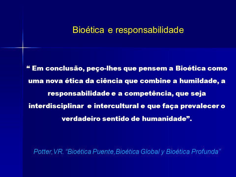 Bioética e responsabilidade