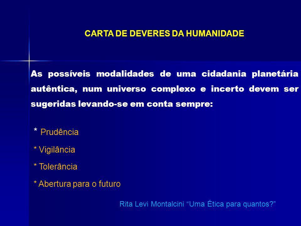 CARTA DE DEVERES DA HUMANIDADE