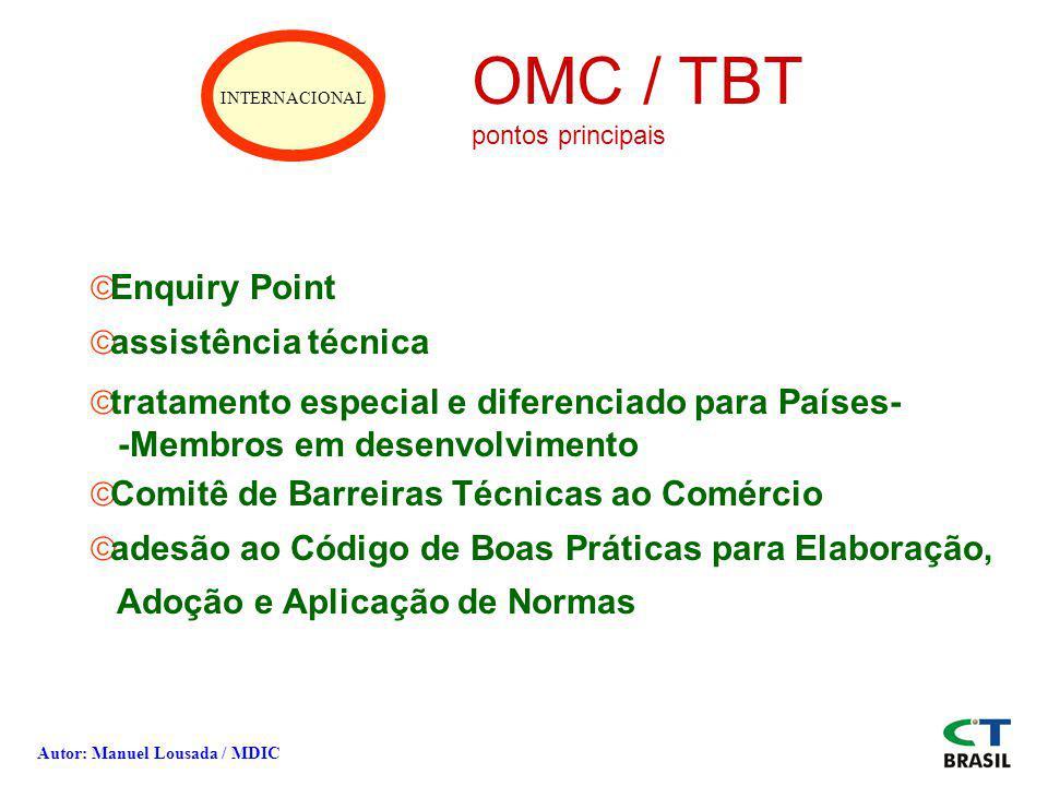 OMC / TBT Enquiry Point assistência técnica
