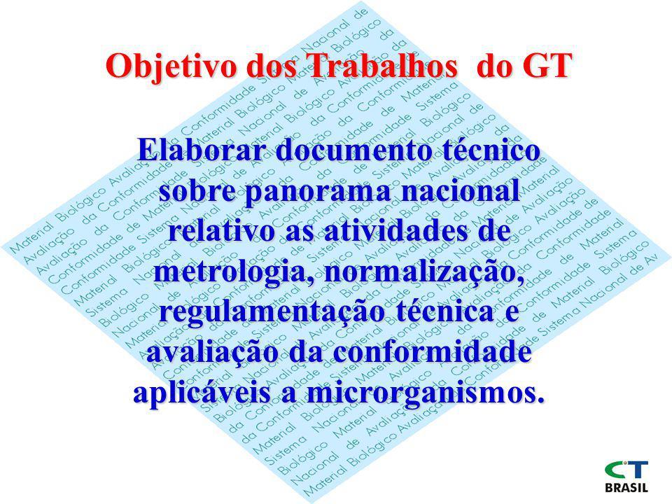 Objetivo dos Trabalhos do GT