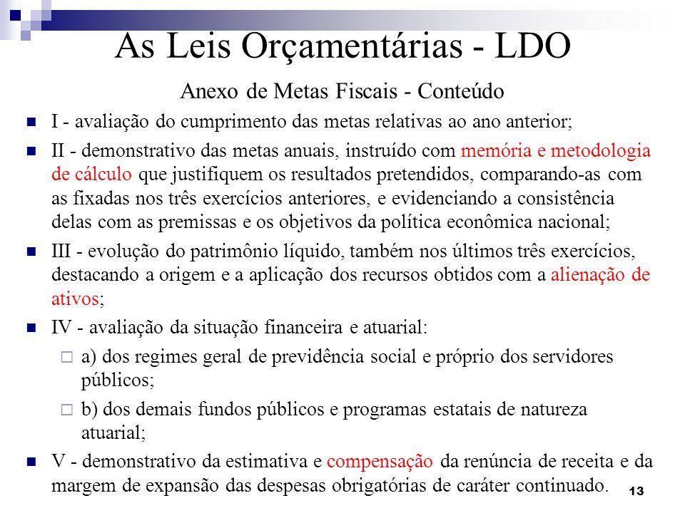 As Leis Orçamentárias - LDO
