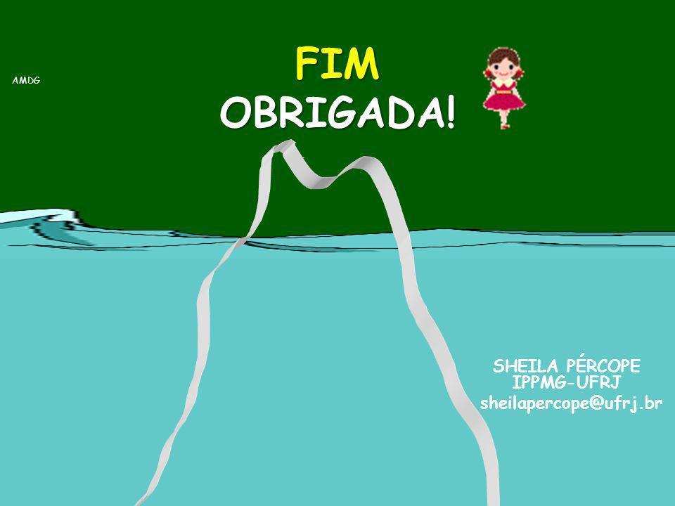 FIM OBRIGADA! AMDG.