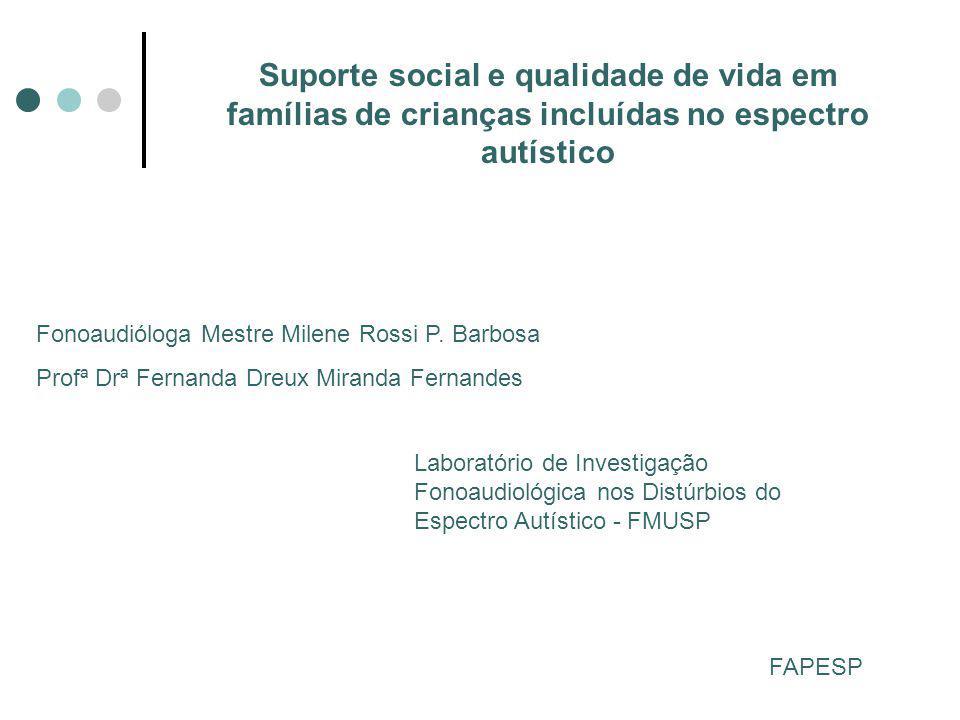 Suporte social e qualidade de vida em famílias de crianças incluídas no espectro autístico