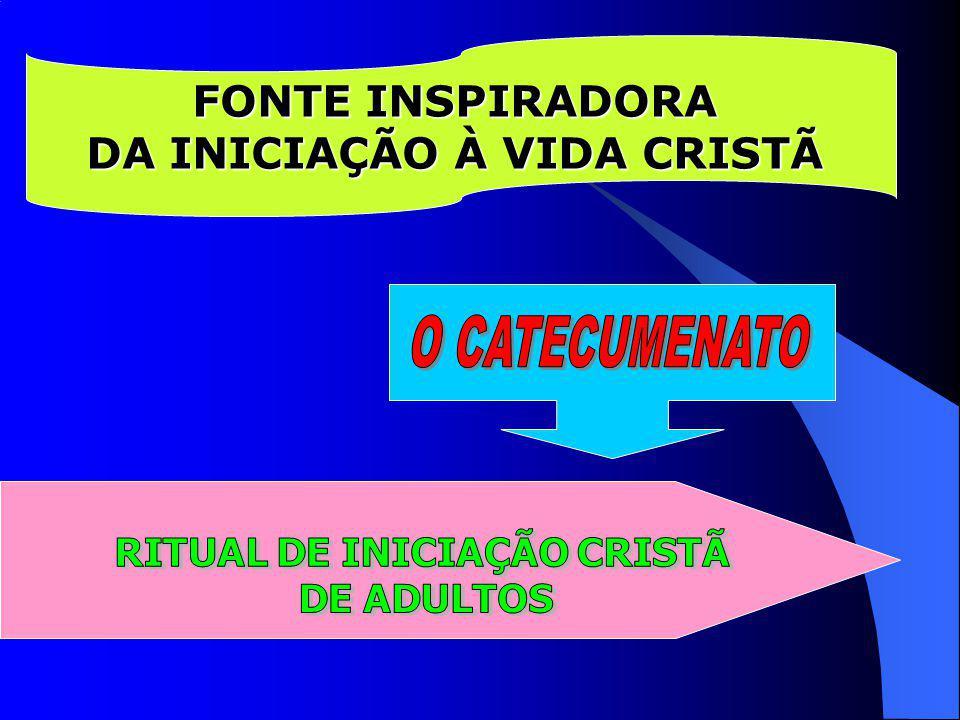 DA INICIAÇÃO À VIDA CRISTÃ RITUAL DE INICIAÇÃO CRISTÃ