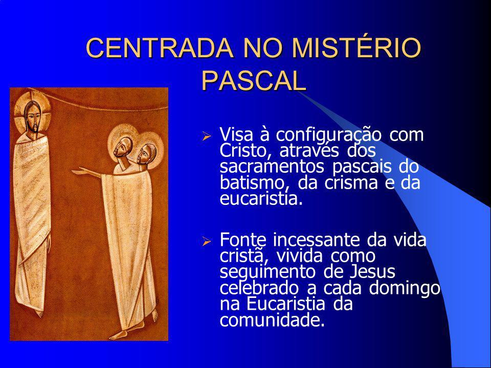 CENTRADA NO MISTÉRIO PASCAL