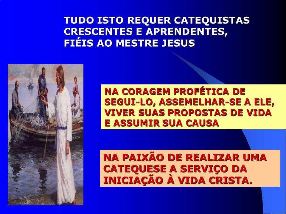 TUDO ISTO REQUER CATEQUISTAS CRESCENTES E APRENDENTES,