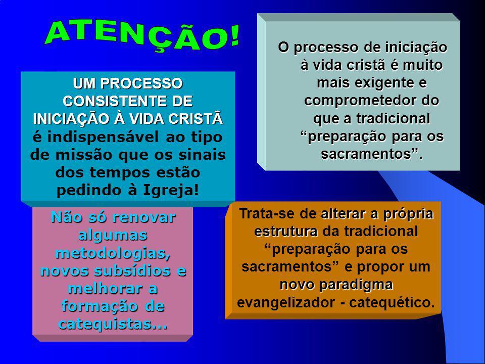 UM PROCESSO CONSISTENTE DE INICIAÇÃO À VIDA CRISTÃ