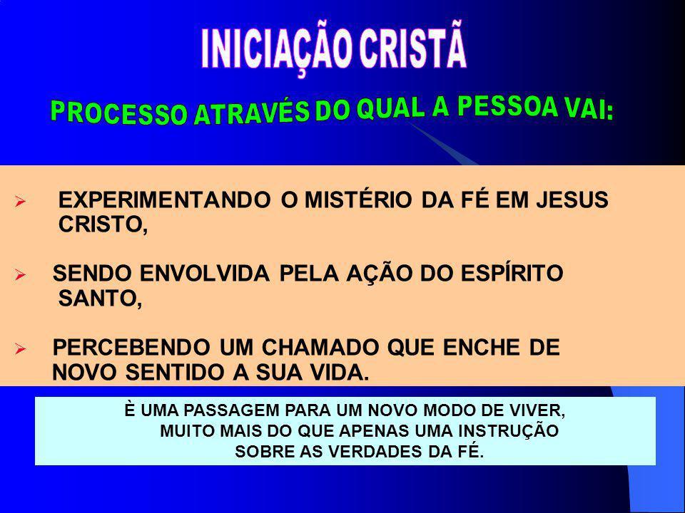 EXPERIMENTANDO O MISTÉRIO DA FÉ EM JESUS CRISTO,