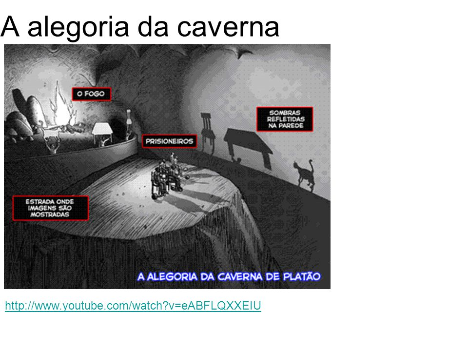 A alegoria da caverna http://www.youtube.com/watch v=eABFLQXXEIU