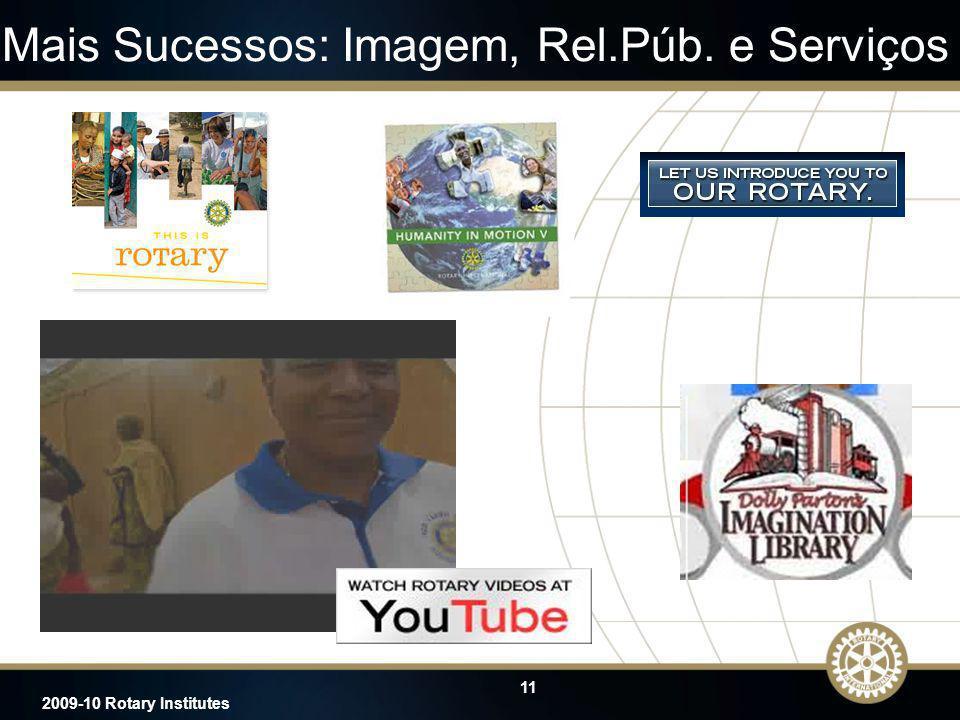 Mais Sucessos: Imagem, Rel.Púb. e Serviços