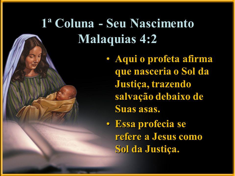1ª Coluna - Seu Nascimento Malaquias 4:2