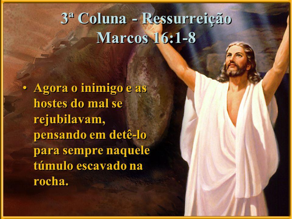 3ª Coluna - Ressurreição Marcos 16:1-8