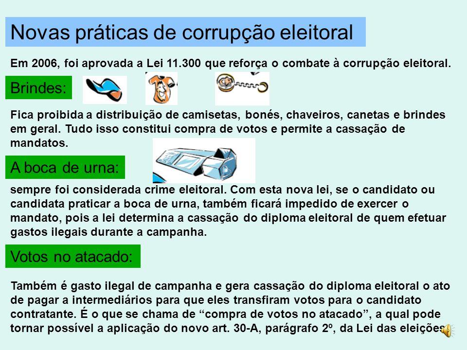 Novas práticas de corrupção eleitoral