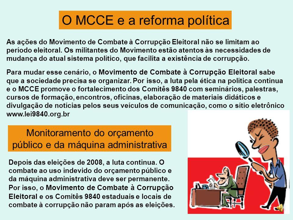 O MCCE e a reforma política
