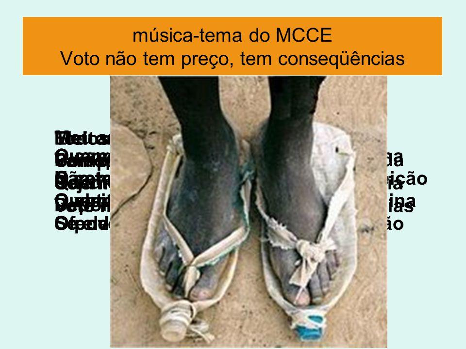 música-tema do MCCE Voto não tem preço, tem conseqüências