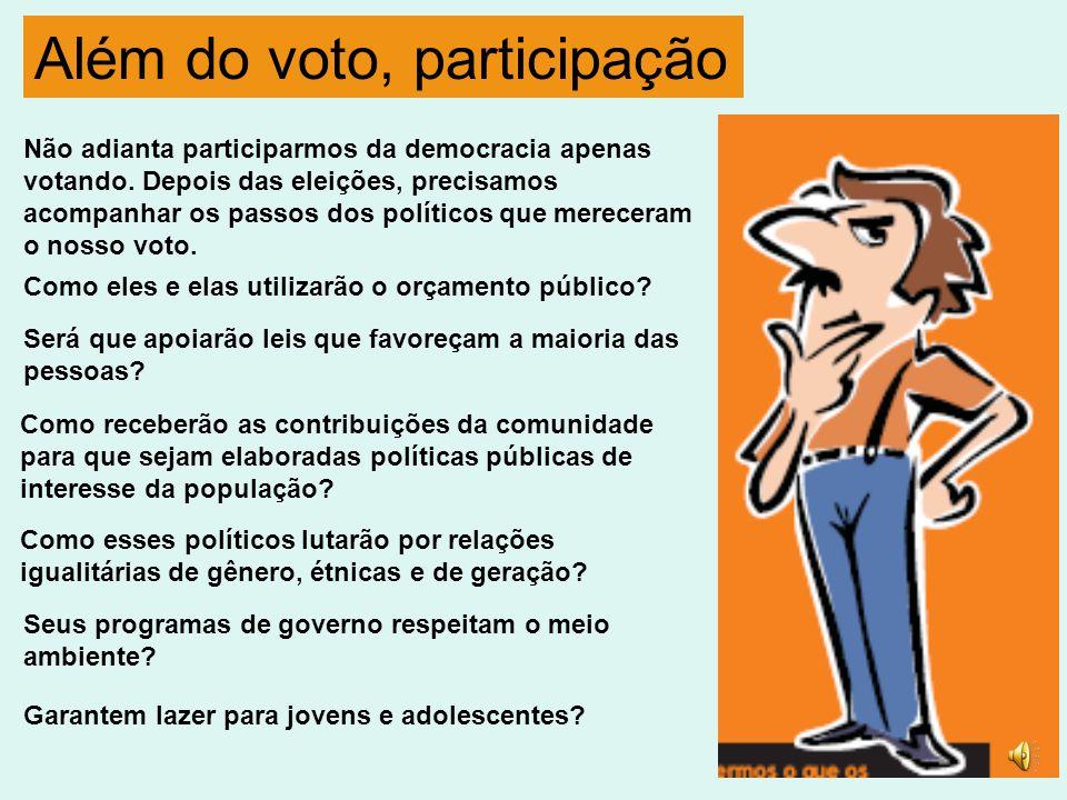 Além do voto, participação