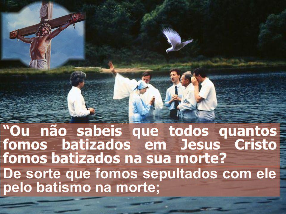 Ou não sabeis que todos quantos fomos batizados em Jesus Cristo fomos batizados na sua morte