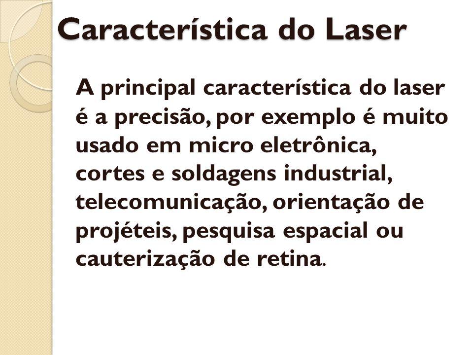 Característica do Laser