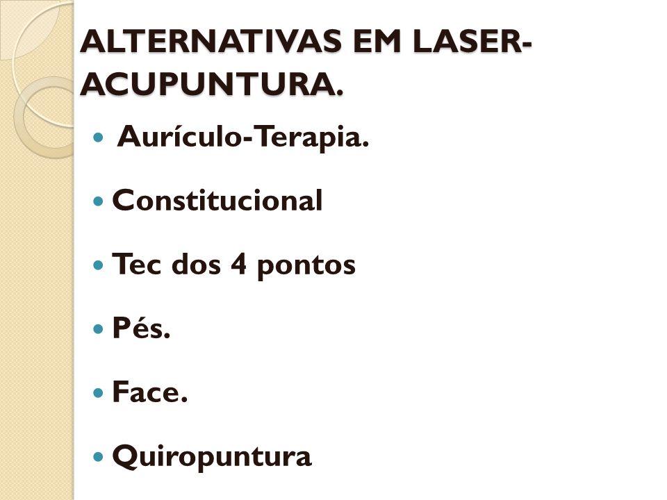 ALTERNATIVAS EM LASER-ACUPUNTURA.