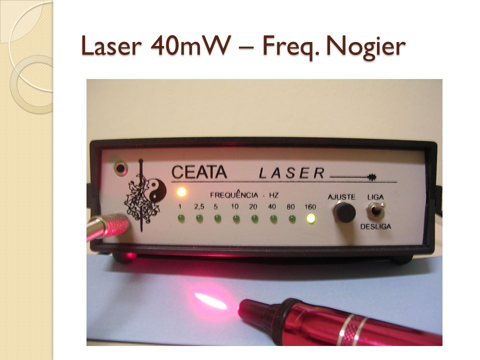 Laser 40mW – Freq. Nogier