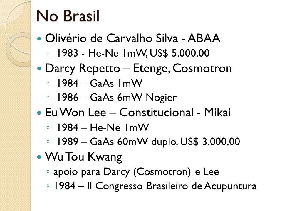 No Brasil Olivério de Carvalho Silva - ABAA