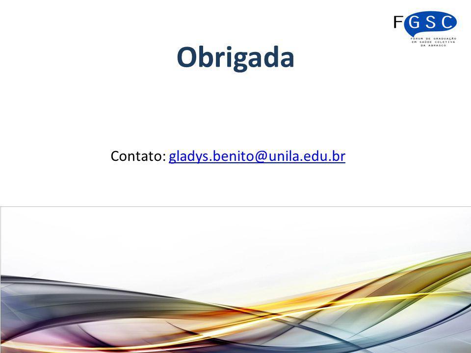 Contato: gladys.benito@unila.edu.br