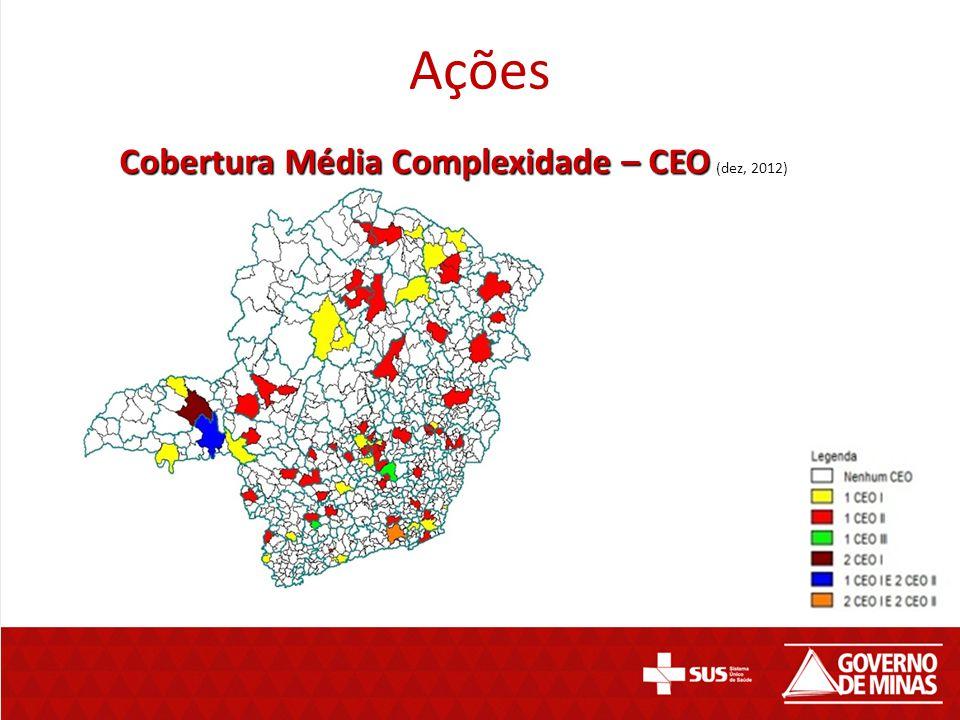 Ações Cobertura Média Complexidade – CEO (dez, 2012)