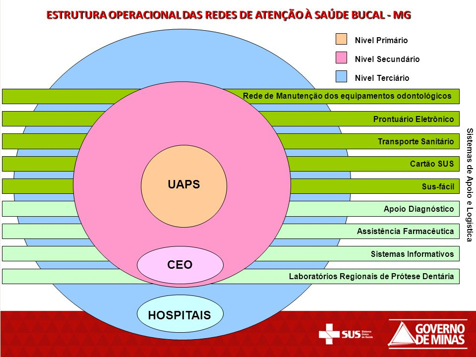 ESTRUTURA OPERACIONAL DAS REDES DE ATENÇÃO À SAÚDE BUCAL - MG