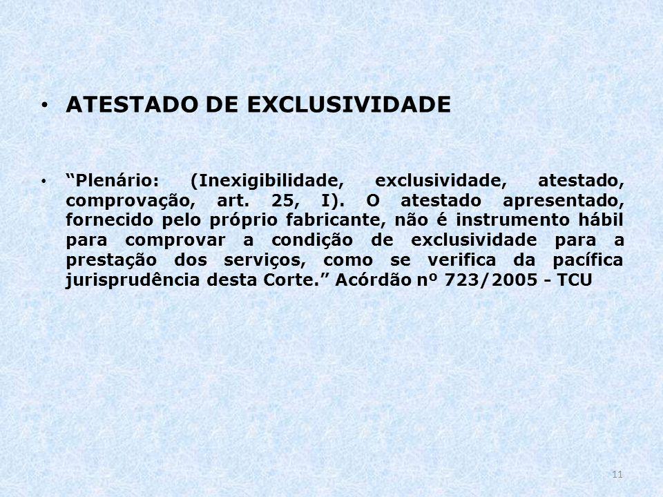 ATESTADO DE EXCLUSIVIDADE