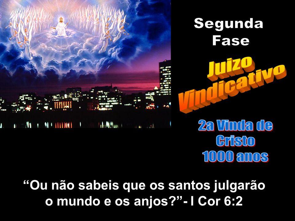 Ou não sabeis que os santos julgarão o mundo e os anjos - I Cor 6:2