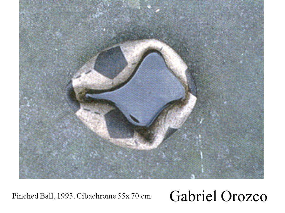 Gabriel Orozco Pinched Ball, 1993. Cibachrome 55x 70 cm