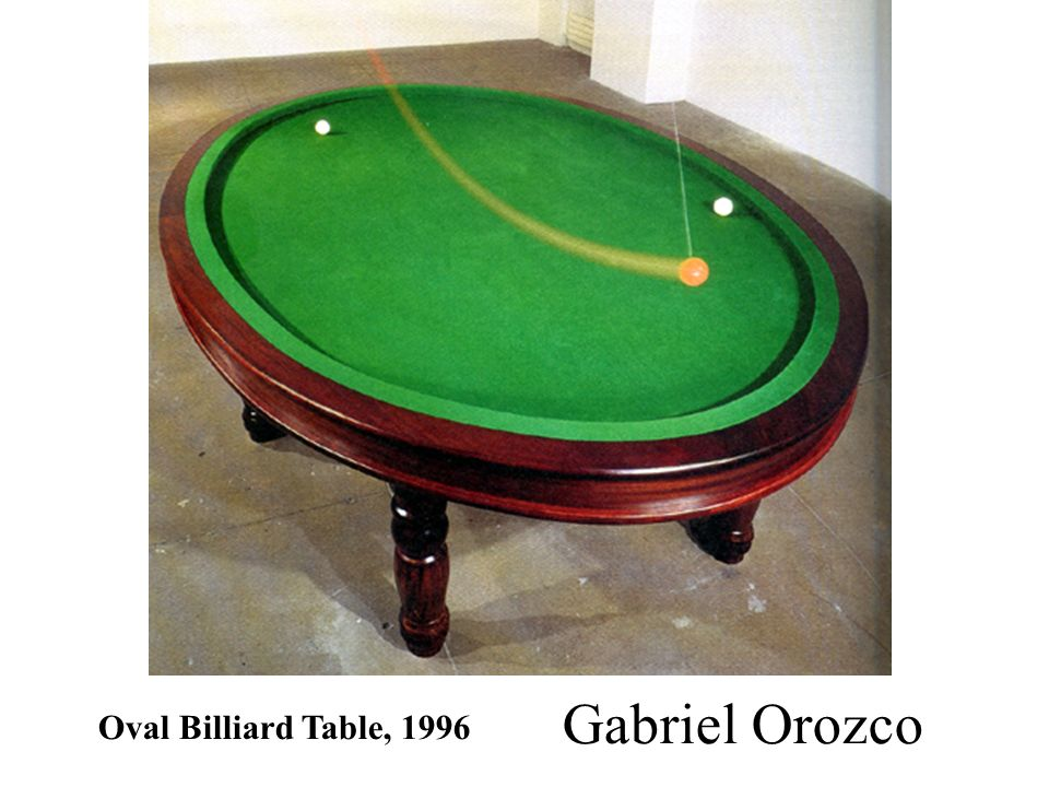 Gabriel Orozco Oval Billiard Table, 1996
