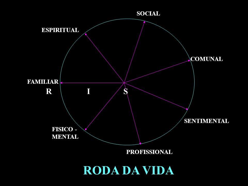 RODA DA VIDA R I S SOCIAL ESPIRITUAL COMUNAL FAMILIAR SENTIMENTAL