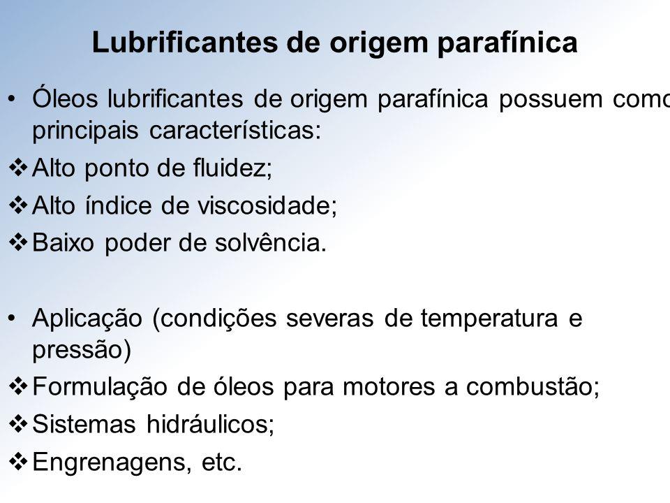 Lubrificantes de origem parafínica