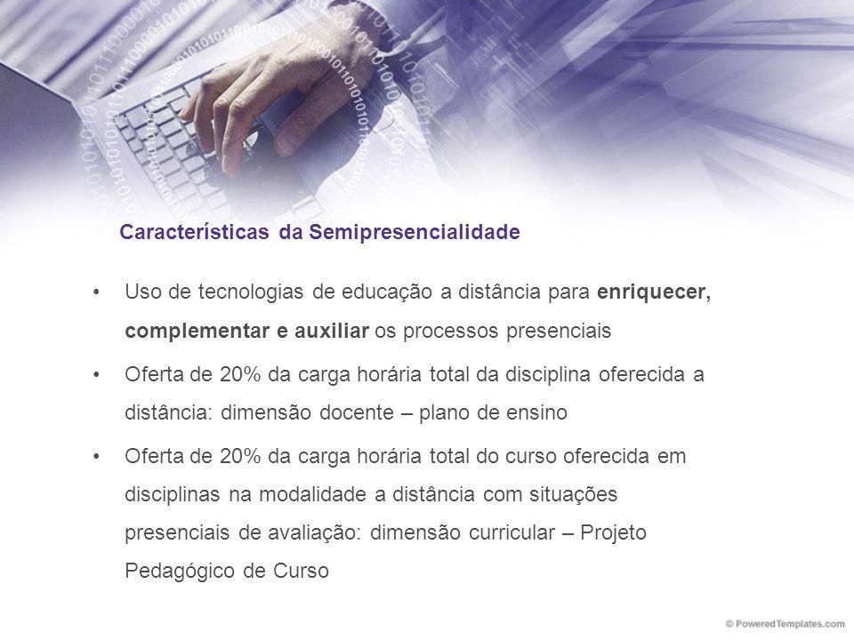 Características da Semipresencialidade