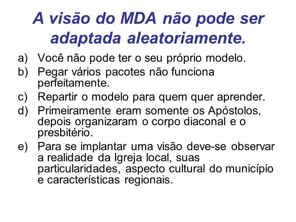 A visão do MDA não pode ser adaptada aleatoriamente.