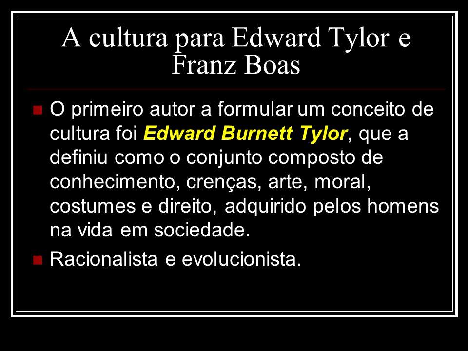 A cultura para Edward Tylor e Franz Boas