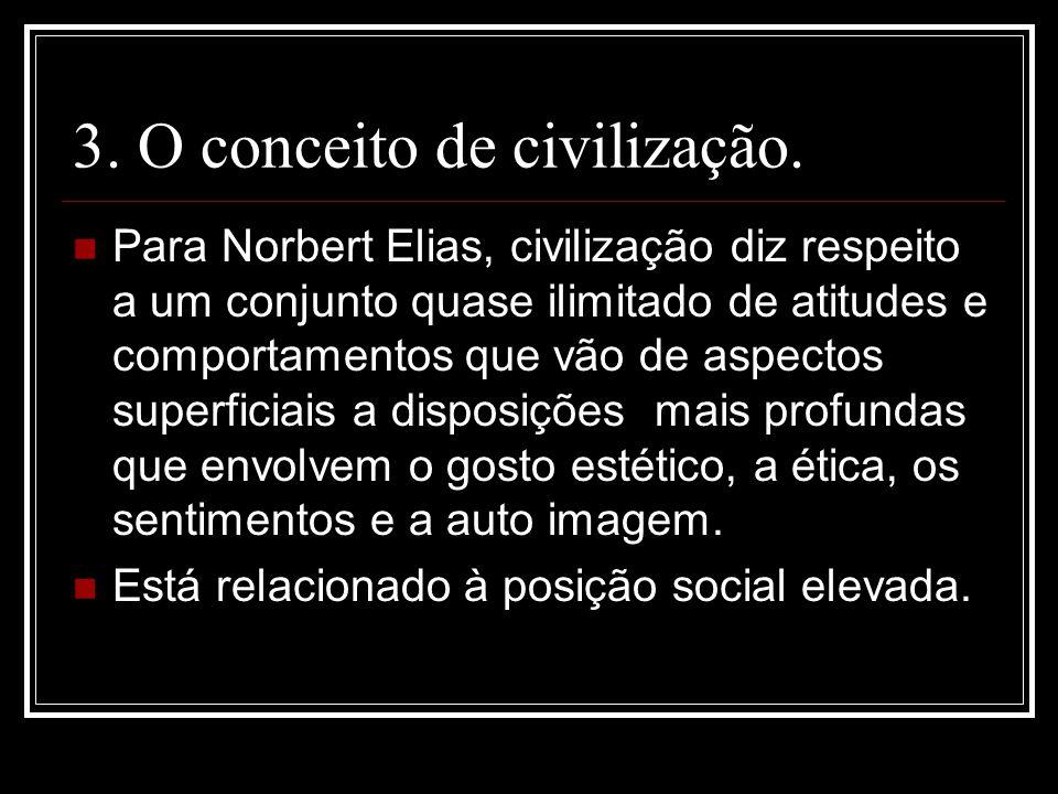3. O conceito de civilização.